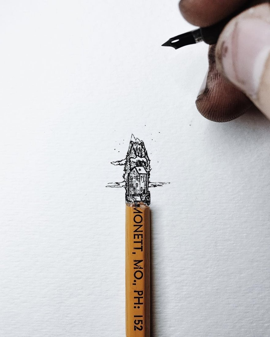 12 - 15-Christian-Watson-1924us-Miniature-Drawings-Interacting-with-Real-Life-www-designstack-co.jpg